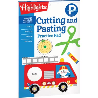 Cutting and Pasting Practice Pad, Preschool