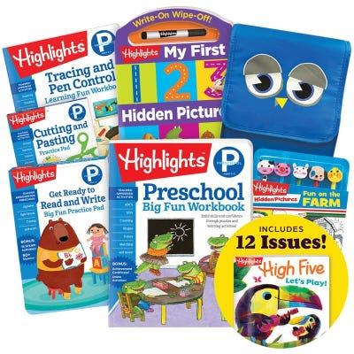 Deluxe Back-to-School Success Pack, Preschool with 5 books, lunch tote, pencil toppers kit and magazine subscription