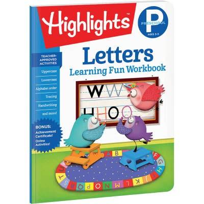 Preschool Learning Fun Workbook: Letters