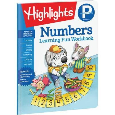 Preschool Learning Fun Workbook: Numbers