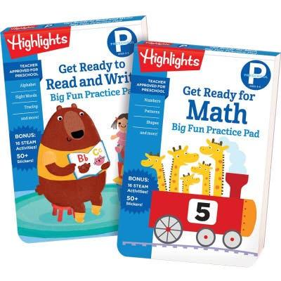 Preschool Big Fun Practice Pads Set