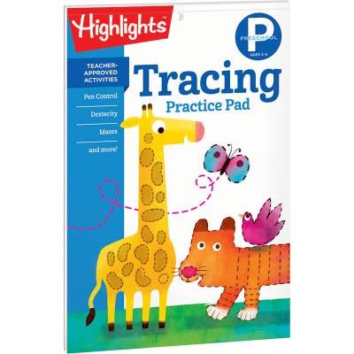 Tracing Practice Pad, Preschool