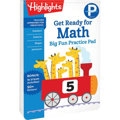 Preschool Big Fun Practice Pad: Get Ready for Math