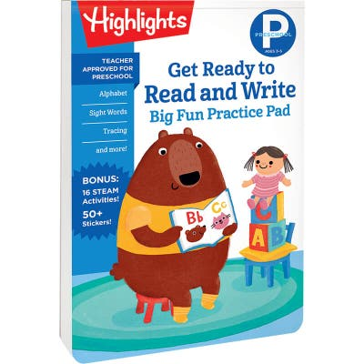 Preschool Big Fun Practice Pad: Get Ready to Read and Write