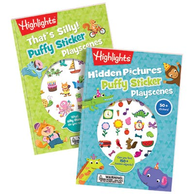 Hidden Pictures Puffy Sticker PlayScenes Set of 2