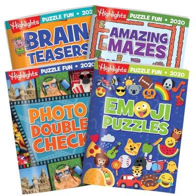 Puzzle Fun Collection 2020 4-Book Set