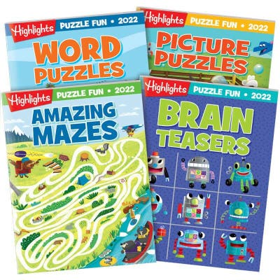 Puzzle Fun 2022 puzzle book set, with 4 books