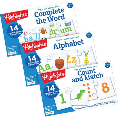These flash card sets are also a puzzle game for kids