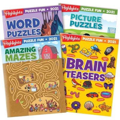 Puzzle Fun 2021 4-Book Set