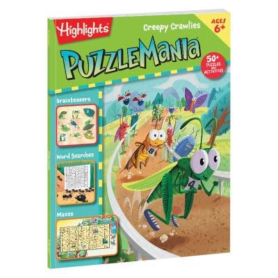 Puzzlemania Creepy Crawlies book