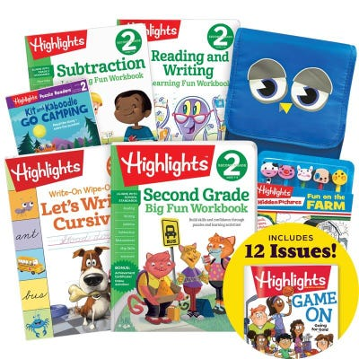Deluxe School Success Pack, Second Grade, with 5 books, lunch tote, pencil kit and magazine subscription inset