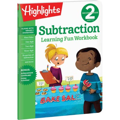 Second Grade Learning Fun Workbook: Subtraction
