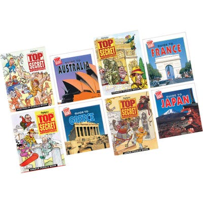 Top Secret Adventures Set with 4 country sets