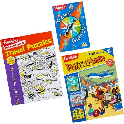 Travel Fun to Go set with 3 books