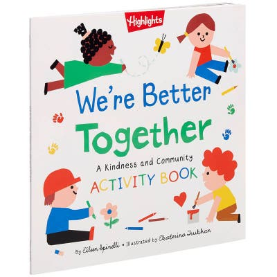 We're Better Together Activity Book, part of our series of books about kindness for toddlers