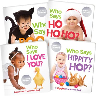 Who Says Holiday Board Books Set of 4