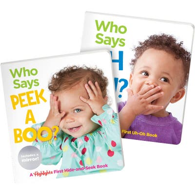 Who Says Peekaboo? and Who Says Uh Oh? Set of 2