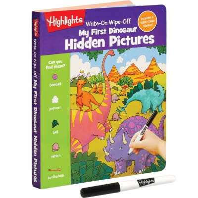 Wipe-clean early learning activity book from Highlights, plus marker