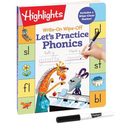 Write-On Wipe-Off Let's Practice Phonics