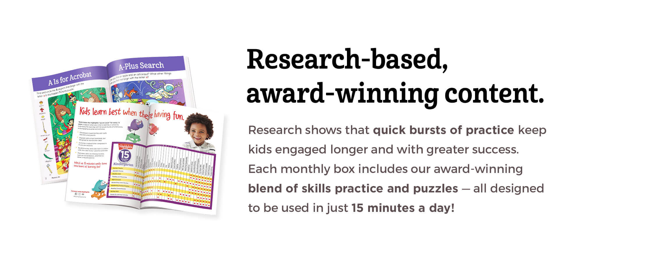 Research-based, award-winning content.