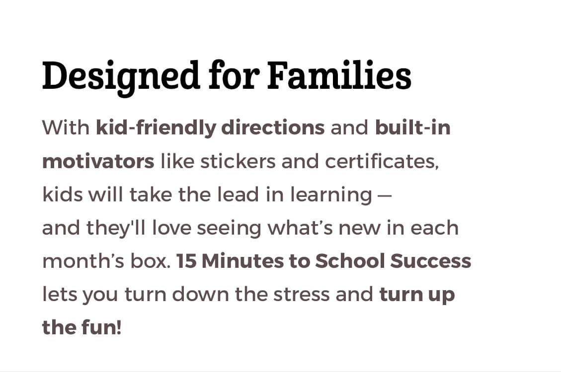 Designed for Families