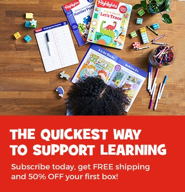Our monthly subscription box is an easy way to support learning at home. Get 50% OFF your first box!