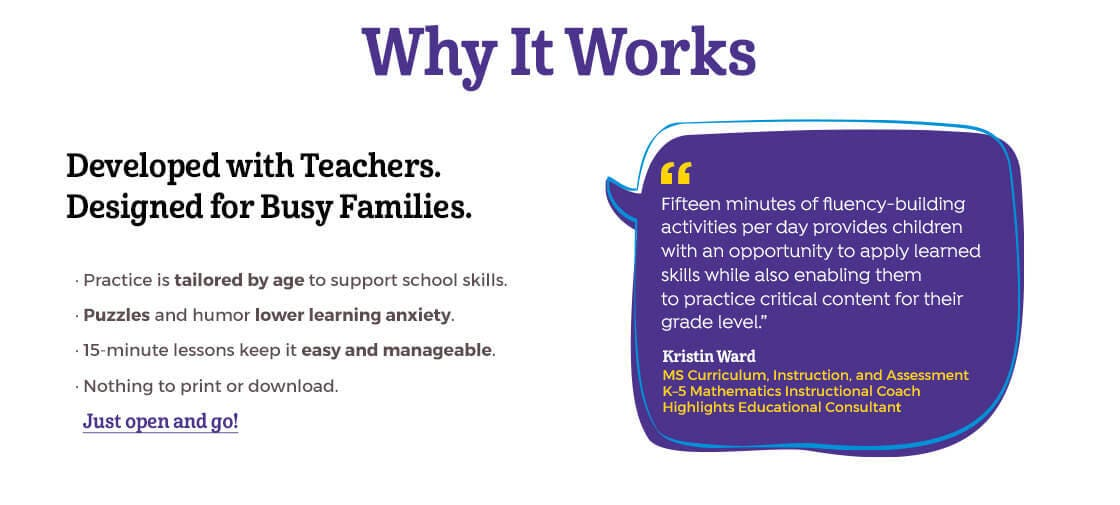 15 Minutes a Day to School Success works because it was developed with teachers and designed for busy families.