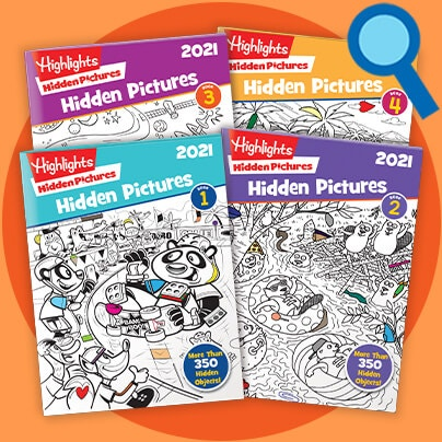 Our 2021 Hidden Pictures Collection features 128 pages of our iconic puzzles and is perfect for ages 6 to 12.