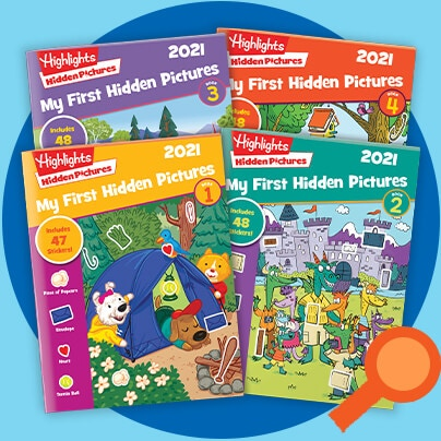 It's never too early to start seeking and finding — our 2021 My First Hidden Pictures puzzles are created for ages 3 to 6.
