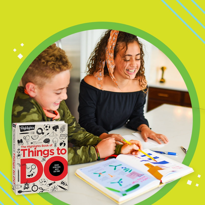 Get Book of Things to Do for the creative kids in your life and they'll never run out of ideas.