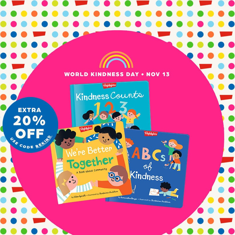 Nurture kindness and social emotional skills with our Kindness collection of books and activities – save an extra 20% with code BEKIND for a limited time only.