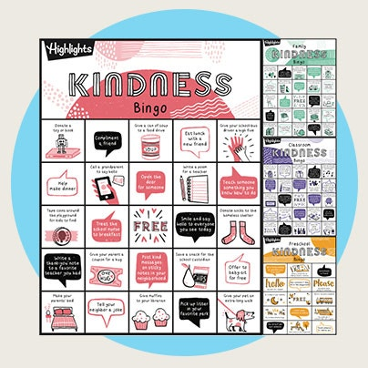 Put kindness in play with this printable bingo game.