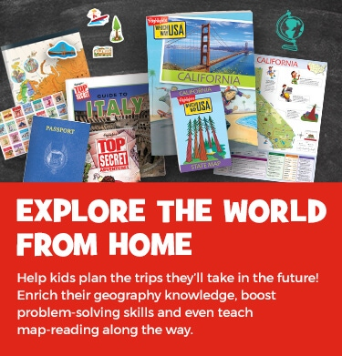 Help kids plan the trips they'll take in the future and explore their world from home! Enrich their geography knowledge, boost problem-solving skills and even teach map-reading along the way.