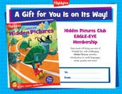 Eagle Eye Certificate Anytime Gift Announcement