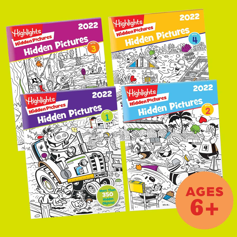 2022 Hidden Pictures 4-Book Set