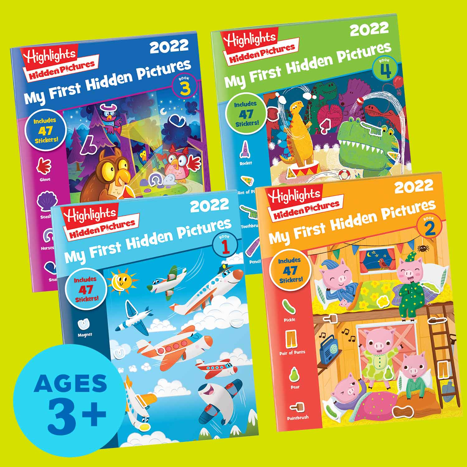2022 My First Hidden Pictures 4-Book Set