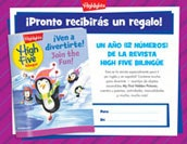 Revista High Five Bilingüe Certificate Holiday Gift Announcement