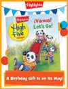 High Five Bilingüe Foldable Birthday Gift Announcement