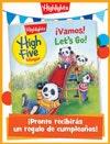 Revista High Five Bilingüe Folded Birthday Gift Announcement