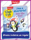 Revista High Five Bilingüe Folded Holiday Gift Announcement