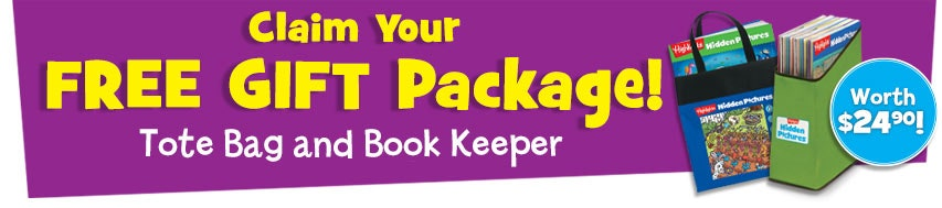 Claim your free gift package, with a tote bag and book keeper, worth $24.90