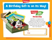 Let's Grow Certificate Birthday Gift Announcement