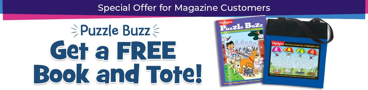 Special offer for our magazine customers! Get a free book and tote bag.