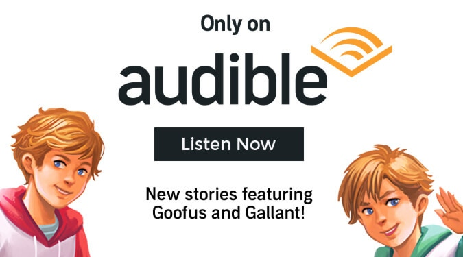 Only on Audible. Click to listen now to new stories featuring Goofus and Gallant!