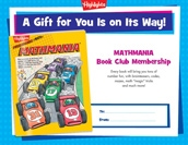 Mathmania Certificate Anytime Gift Announcement