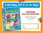 Mathmania Certificate Birthday Gift Announcement