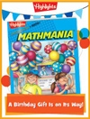 Mathmania Foldable Birthday Gift Announcement