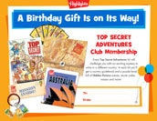 Top Secret Certificate Birthday Gift Announcement